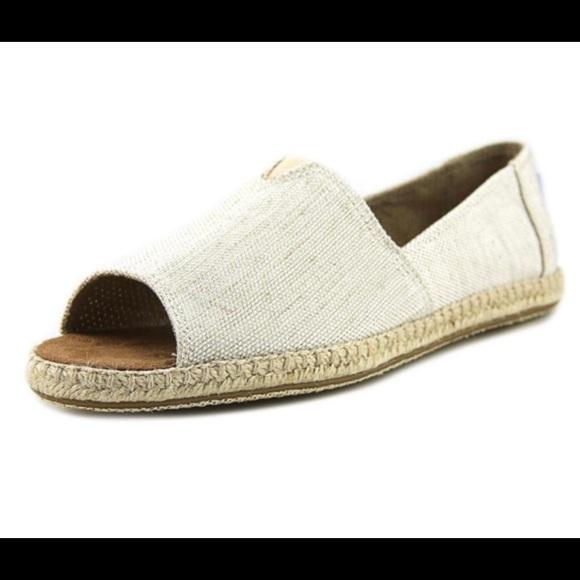 4d6d250249fb1 Toms Shoes   Alpargata Open Toe Natural Yarn Espadrilles   Poshmark